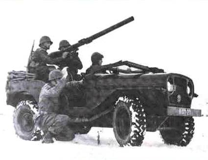 Canon on M38 Jeep