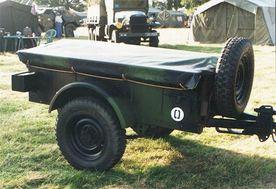 Bantam 1943 Jeep Trailer Modified For French Army Use